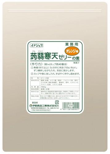 イナショク蒟蒻寒天ゼリーオレンジ味