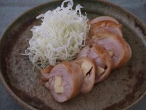 チーズ入り鶏のゆず胡椒ポン酢焼き
