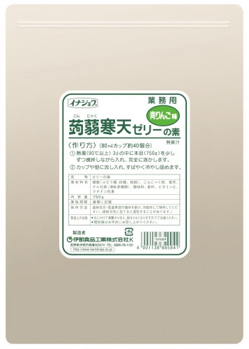 イナショク蒟蒻寒天ゼリー青りんご