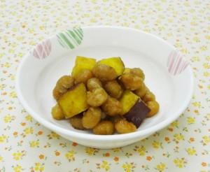 蒸し大豆_大豆とさつま芋の揚げ煮_愛知県(2)